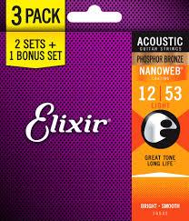 free elixir picks with elixir phosphor bronze nanoweb acoustic guitar strings bonus pack 3 sets for the of 2