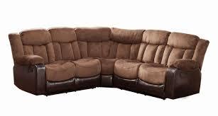saddle microfiber contemporary reclining sectional sofa