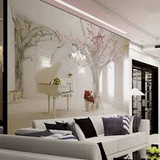 Tree Design Wallpaper Living Room Aliexpresscom Buy Cherry Flower Tree Wallpaper Murals 3d