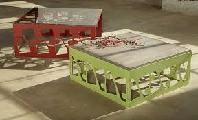 metal furniture design. metal coffee table furniture design of scrap with natural wood by bevara house g