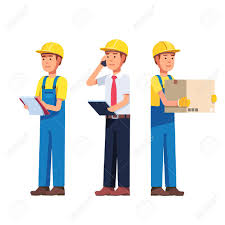 Buiding Manager Warehouse And Delivery Or Building Worker Foreman Manager And