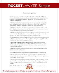 Endorsement Agreement Template Athlete Sponsorship Contract ...