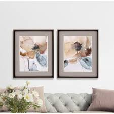 poppy 2 piece framed painting print set on 2 piece framed wall art with wall art birch lane