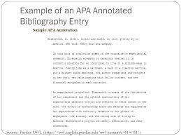 Apa Annotated Bibliography Example Assignment 3 Team Led Class Discussion And Collaborative Annotated
