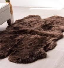 extra large chocolate brown sheepskin rug quad pelt 6x4 ft genuine australian