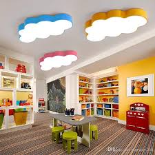 2019 led cloud kids room lighting children ceiling lamp baby ceiling light with yellow blue red white color for boys girls bedroom fixtures from sunway168