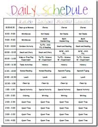 Daily Homeschool Schedule Template Daily Routine Chart Template Rome Fontanacountryinn Com