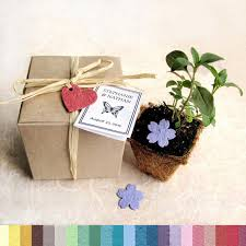 15 plantable wedding favors with biodegradable pots and flower Seed Cards Wedding Favors like this item? plantable seed cards wedding favors