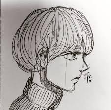 菊波キクナミ On Twitter イラスト 手描き 髪型 男 女 センター