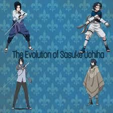 The evolution of Sasuke Uchiha, looks.