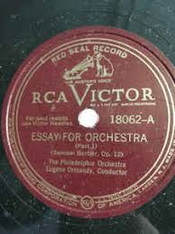 the philadelphia orchestra essay for orchestra shellac at discogs the philadelphia orchestra essay for orchestra