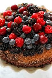 Single Layer Chocolate Cake With Fresh Berries