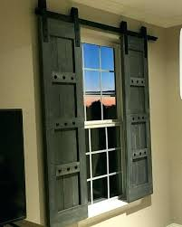 barn door window shutters interior window barn door sliding shutters barn by diy barn door window