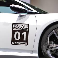 1pc rays no 1 racing car sticker decals for door car styling water proof decorate