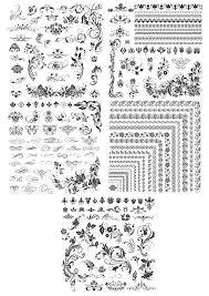 flower corner designs free vector cdr