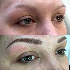 semi permanent hair stroke eyebrows before after pics million dollar brows glasgow scotland