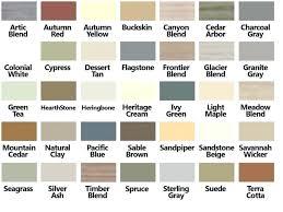 Vinyl Siding Color Chart Vinyl Siding Color Chart World Of