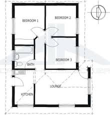 Bedroom House Plan South Africa  Economy House Plans   VAlineEconomy House Plans