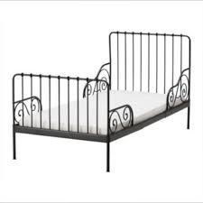 Ikea Minnen extendable kids bed frame black without mattress ...