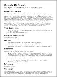 Heavy Equipment Operator Resume Simple Resume Sample For Manufacturing Operator Combined With Best Heavy