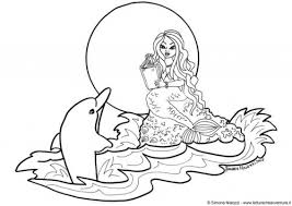 Small Picture Mermaid and Dolphin Coloring Pages Bestofcoloringcom
