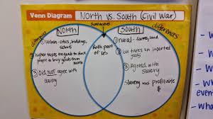 Venn Diagram Civil War Civil War Differences Between North And South Essay