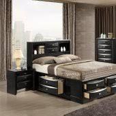 Modern Black Bedroom Furniture Linda Bedroom In Black By Global WStorage Bed U0026 Options Modern Furniture