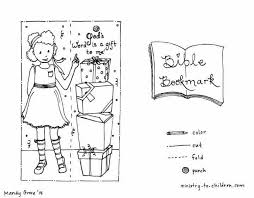 Front and back of the bookmark displays the quoted bible texts that are designed to color: Bible Bookmark Coloring Pages Ministry To Children