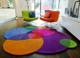 image of round target accent rugs