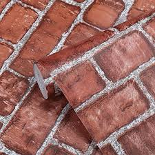 coavas decorative self adhesive wallpaper red brick printed stick paper easy to apply l stick