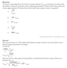 learn ap physics physics c gravitation solution