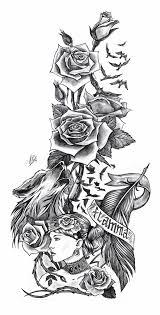 тату эскиз на заказ рукав Tatu Max тату эскиз тату и татуировки
