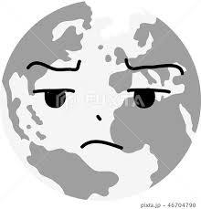 地球 アイコン 顔 喜怒哀楽 表情 かわいい 環境問題 エコ イラストの