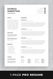 One Page Resume Template Templates Ms Word For Experienced Best Free