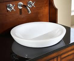 semi recessed ceramic bathroom sink pertaining to elegant house semi recessed bathroom sink designs
