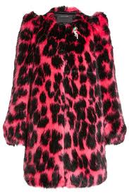 marc jacobs printed faux fur coat animal print women marc jacobs luggage marc jacobs