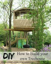 diy how to build your own treehouse