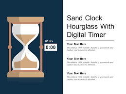 Sand Clock Hourglass With Digital Timer Powerpoint