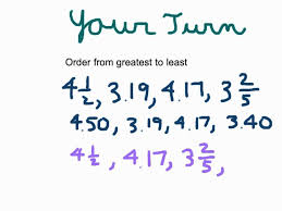 Ordering Decimals Fractions And Mixed Numbers Youtube Least To ...