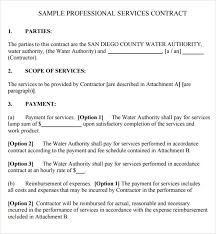 Sample Construction Contract Service Contract Template