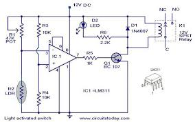 diy ldr switch circuits light activated switch circuit diagram