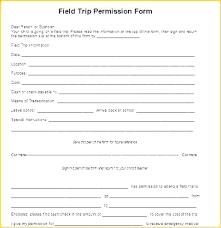 Sample Field Trip Permission Slips Generic Permission Slip Template