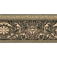 black and gold filigree scroll border