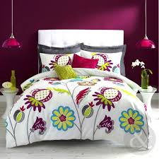 zandra rhodes anoushka duvet cover white blue green purple cotton blend bed set king size duvet