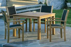 chairs designed for exceptional fort without the need for a cushion each chair is made w a solid teak frame rustproof aluminum sling rails