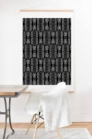 mudcloth black on mud cloth wall art with at mudcloth black art products deny designs
