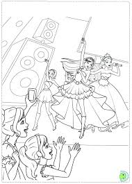 Barbie Princess And The Popstar Coloring Pages Printable Barbie The