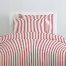 red ticking stripe duvet cover carousel designs