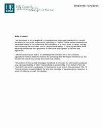 Human Resource Manual Template - Costumepartyrun
