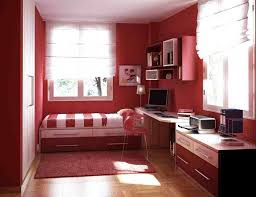 Single Bedroom Small Small Bedroom Colors And Designs With Beautiful Red And White